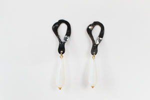 Earrings Peltata Moonstone Tears