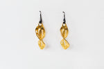 Earrings Twist Leaf Gold
