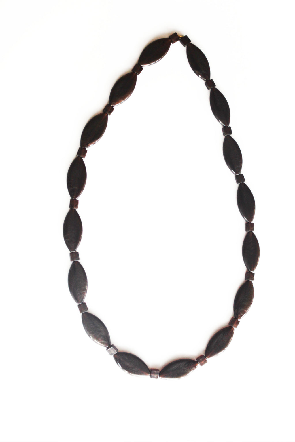 Dark Brown Gold Resin Diamond Necklace