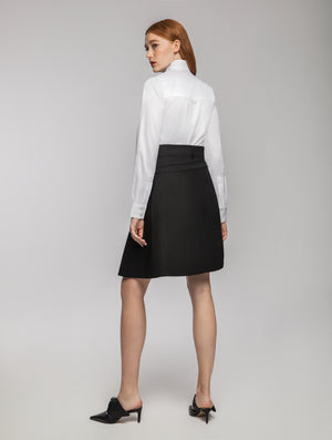 Black Skirt | Removable Half-skirt