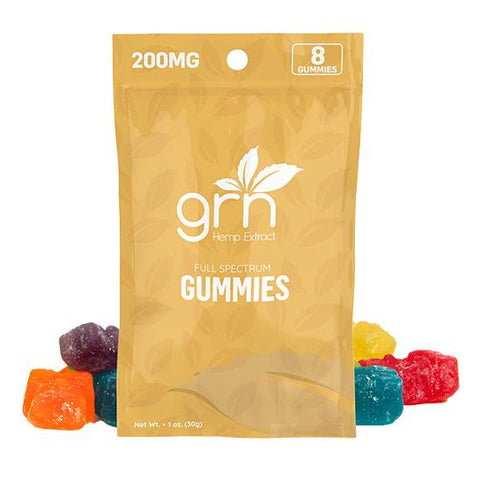 GRN CBD Gummies - 200mg (8 Count)