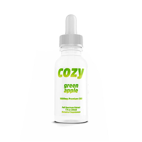 Cozy CBD Full Spectrum 1000mg Tincture - Green Apple