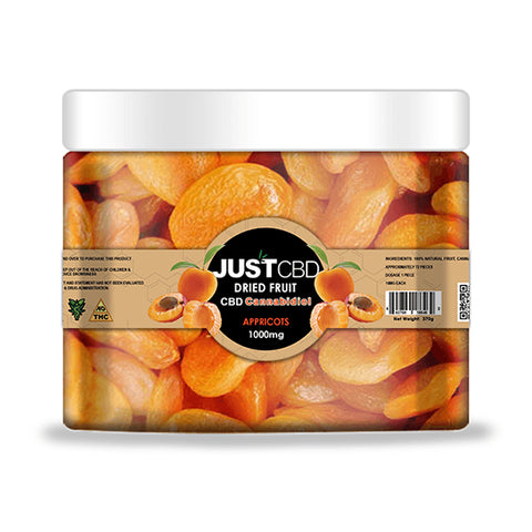 CBD Infused Dried Apricot by JustCBD