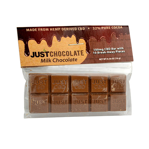 CBD Milk Chocolate Bar by JustCBD
