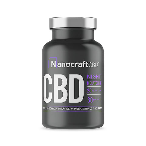 Nanocraft CBD Melatonin Softgels – Night Formula