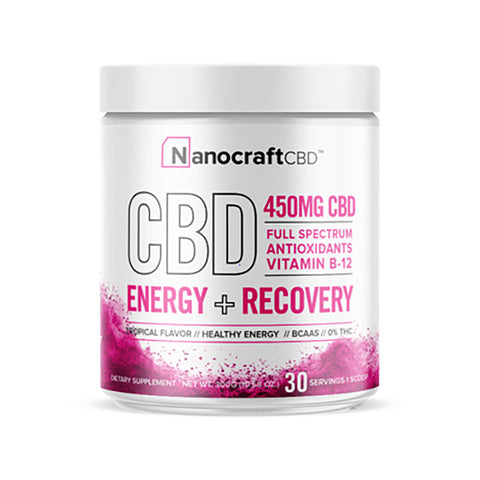 Nanocraft CBD Broad Spectrum CBD Energy + Recovery Powder