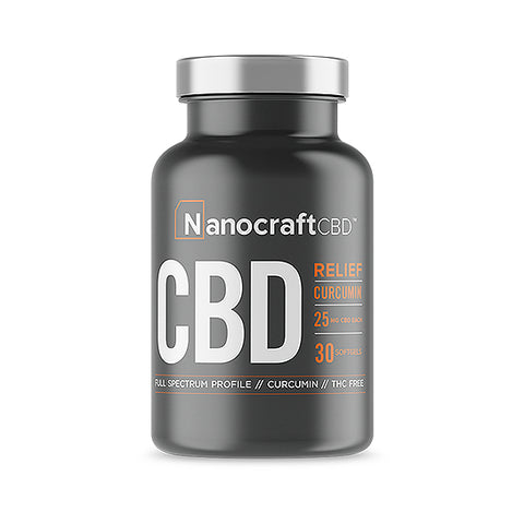 Nanocraft CBD Softgels With Curcumin - Relief Formula