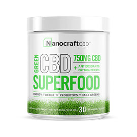 Nanocraft CBD Superfood Green Powder