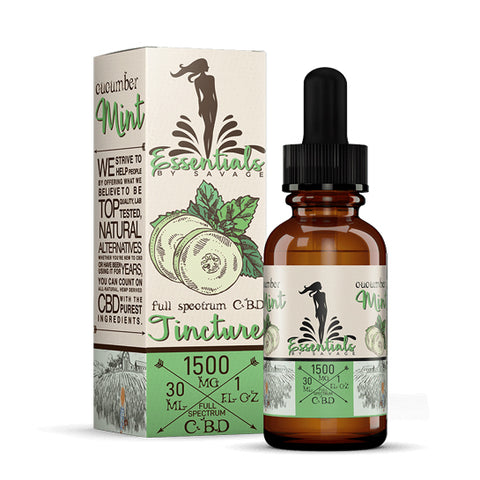 Cucumber Mint Full Spectrum CBD Tincture by Savage CBD Essentials