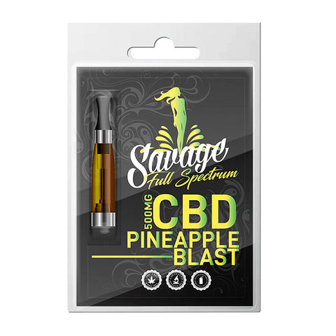 Pineapple Blast Full Spectrum CBD Vape Cartridge by Savage CBD