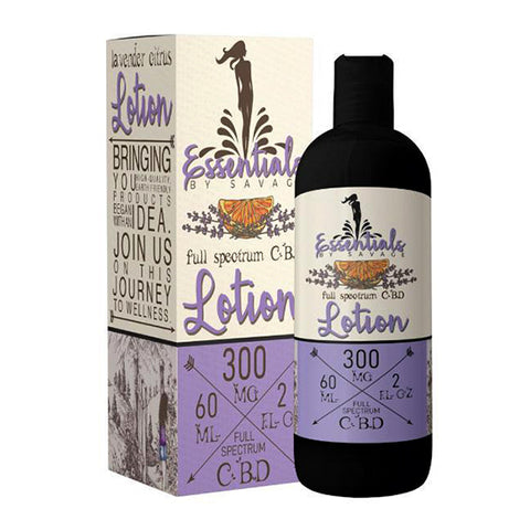 Lavender Citrus Full Spectrum CBD Lotion by Savage CBD Essentials