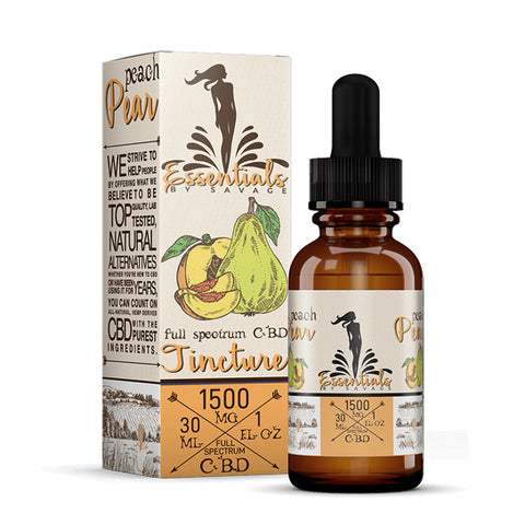 Peach Pear Full Spectrum CBD Tincture by Savage CBD Essentials
