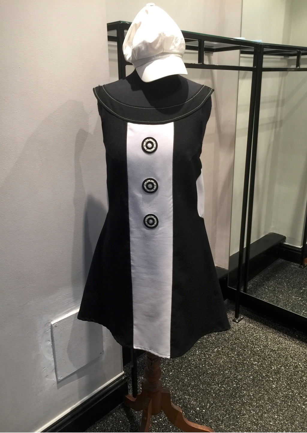 1960s Black Dress with White Panel