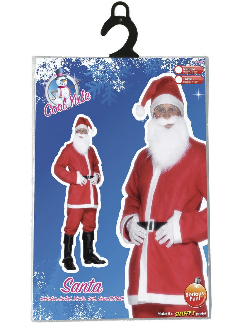 Santa Suit Costume - Men's, Red