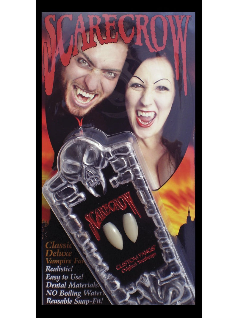Classic Deluxe Vampire Fangs, White