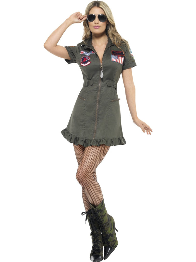 Top Gun Deluxe Female Costume W/Dress Gl