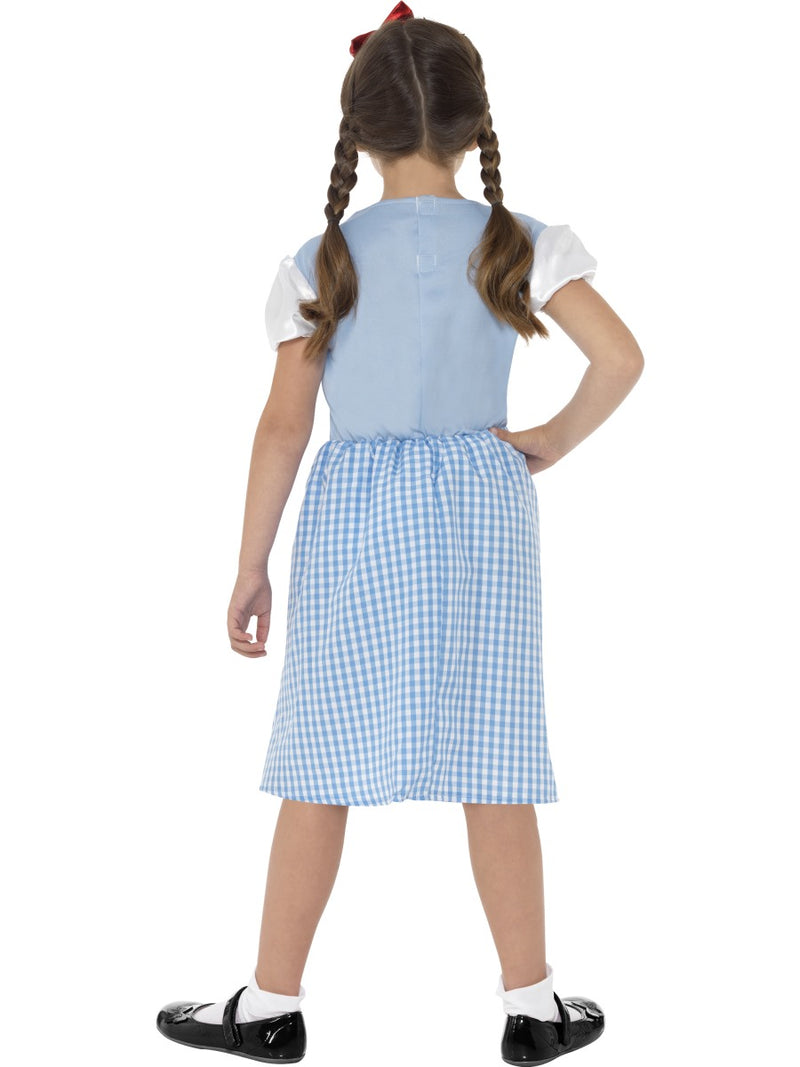 Country Girl Costume, Blue, with Dress & Headband