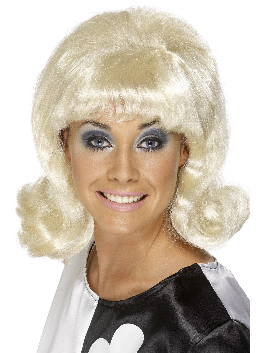 60'S Flick-Up Wig,Blonde