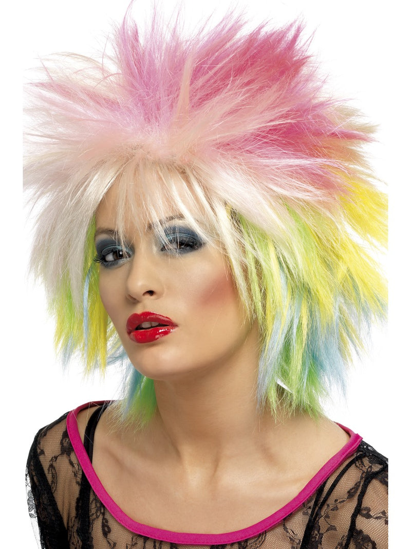 80'S Attitude Wig,Multi-Coloured