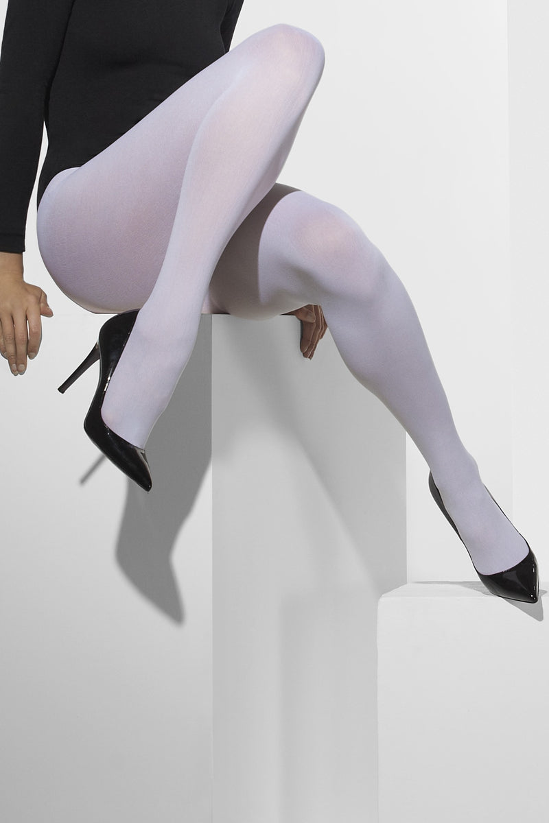 Opaque White Tights