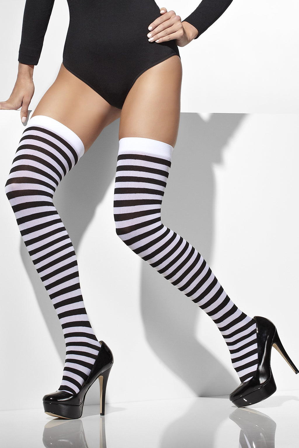 Black & White Opaque Hold Ups