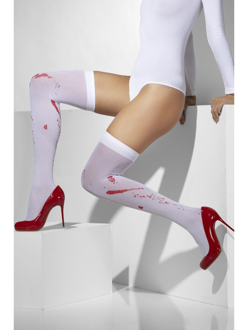 Opaque Tights with Blood Stains