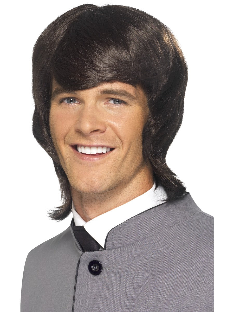 60'S Male Mod Wig,Brown