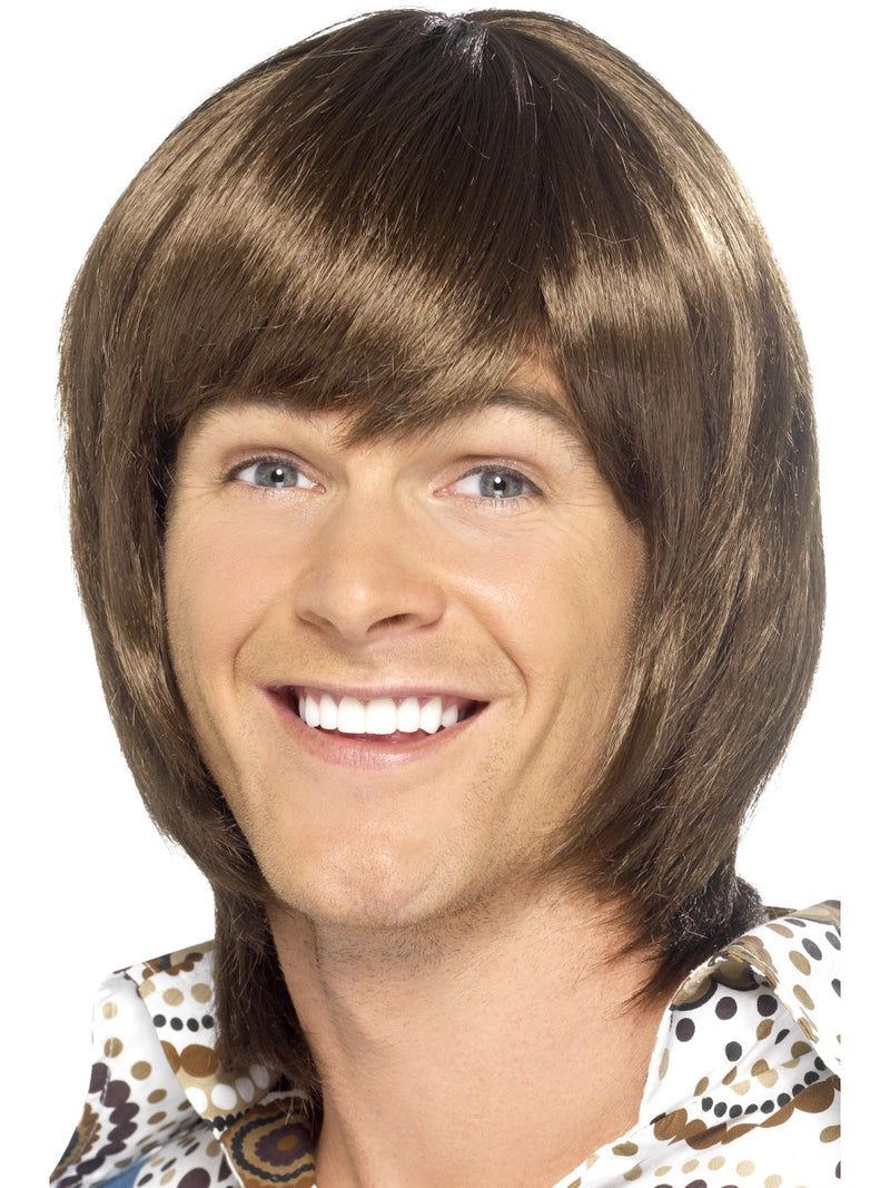 70's Heart Throb Wig - Brown