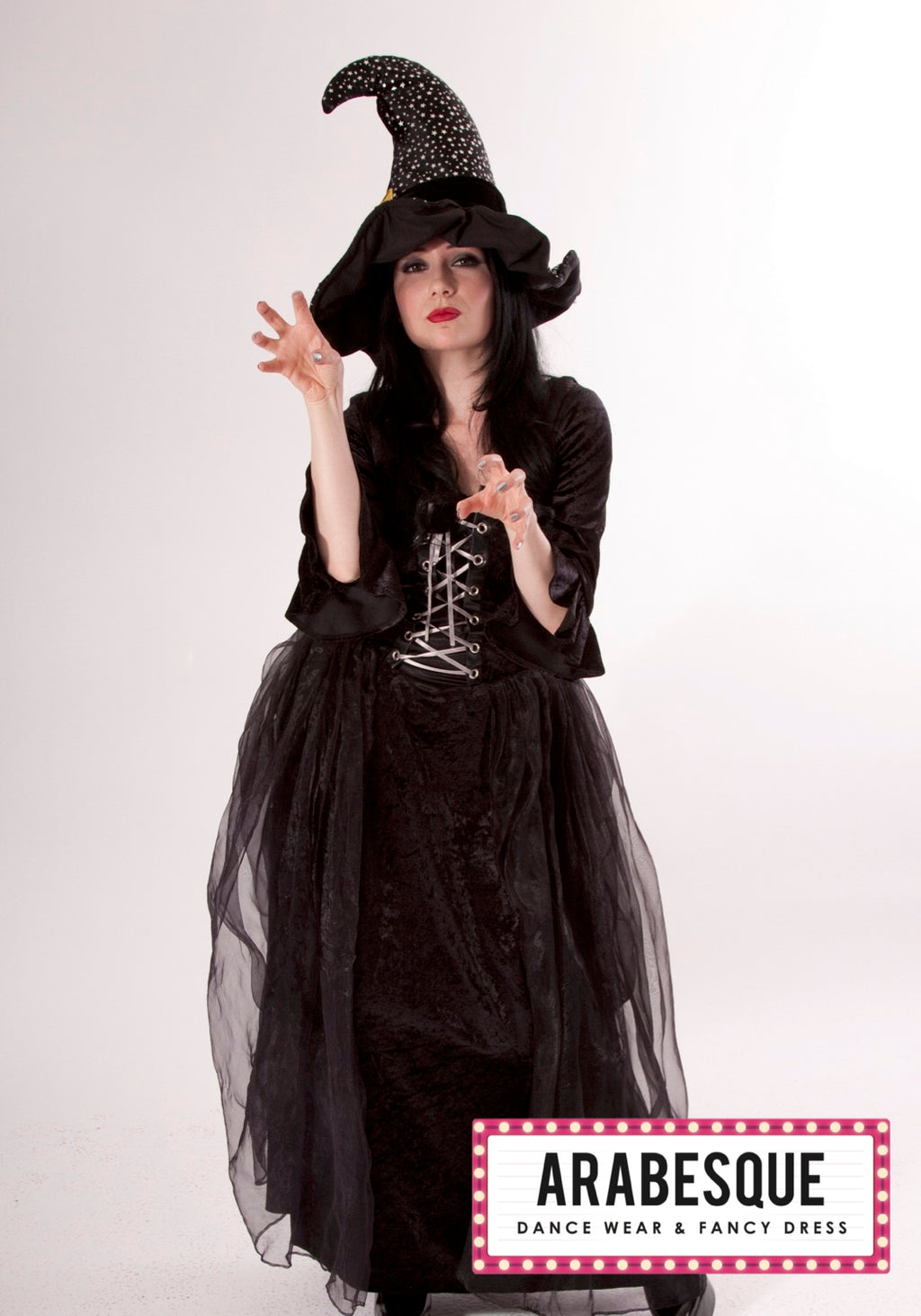 Ladies Witch Costume with Chiffon Skirt