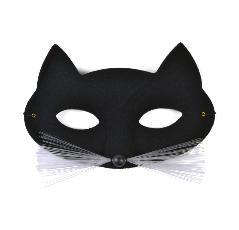 Cat Domino Eye Mask - Black
