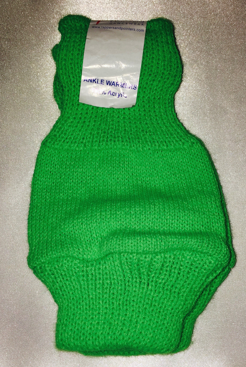 Green Children's Ankle Warmers