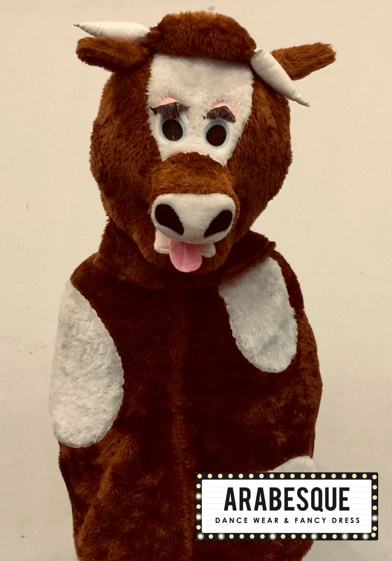 Dark Brown Mascot Cow