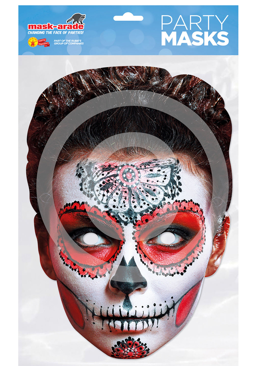 Day of the Dead Card Mask - Female Butterfly