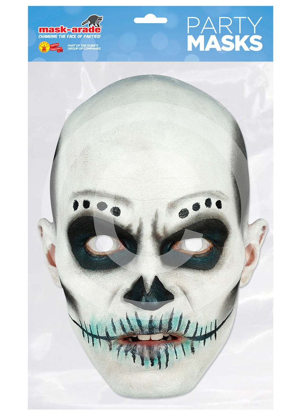 Day of the Dead Card Mask - Skull