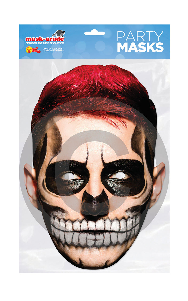 Day of the Dead Card Mask - Male
