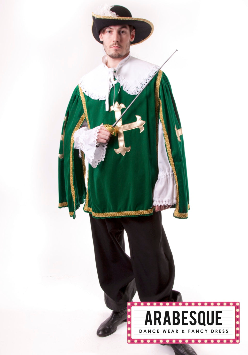 Mens Green Musketeer