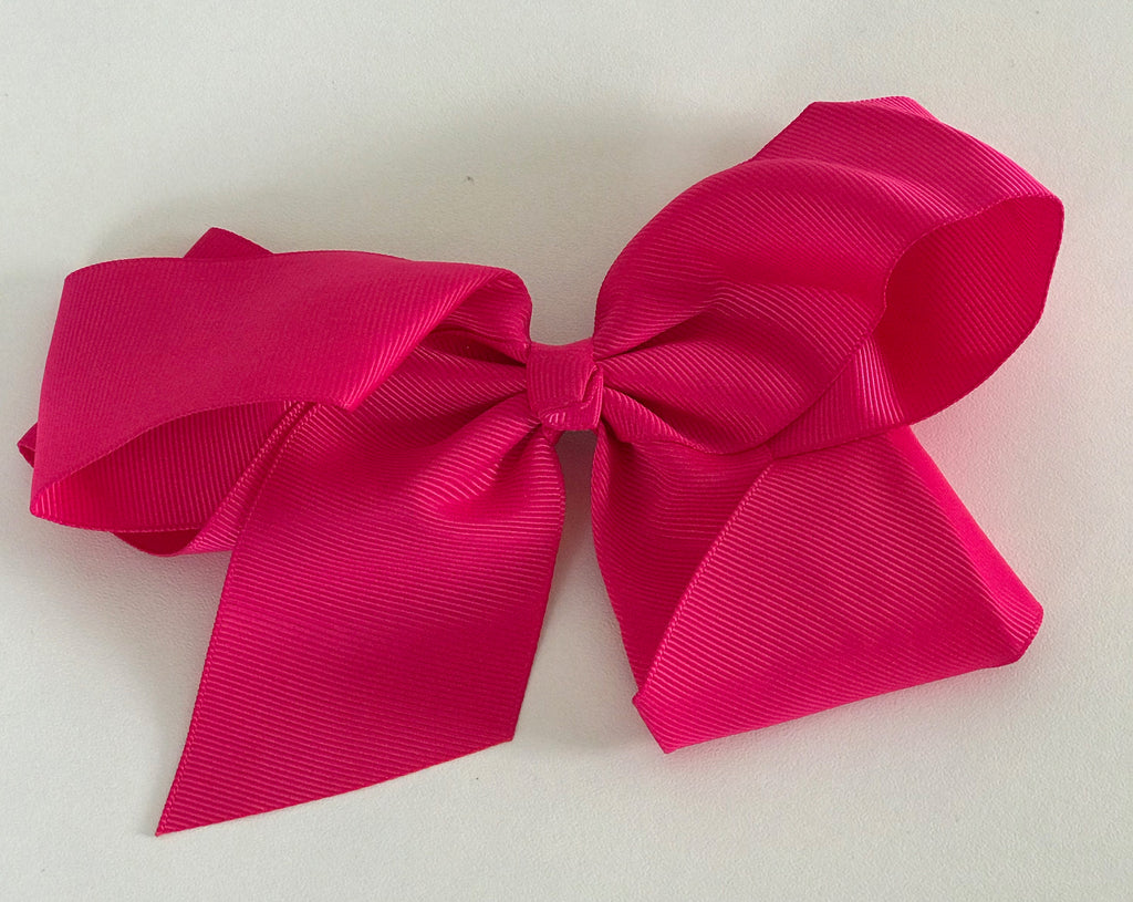 Hair Bow - Shocking Pink