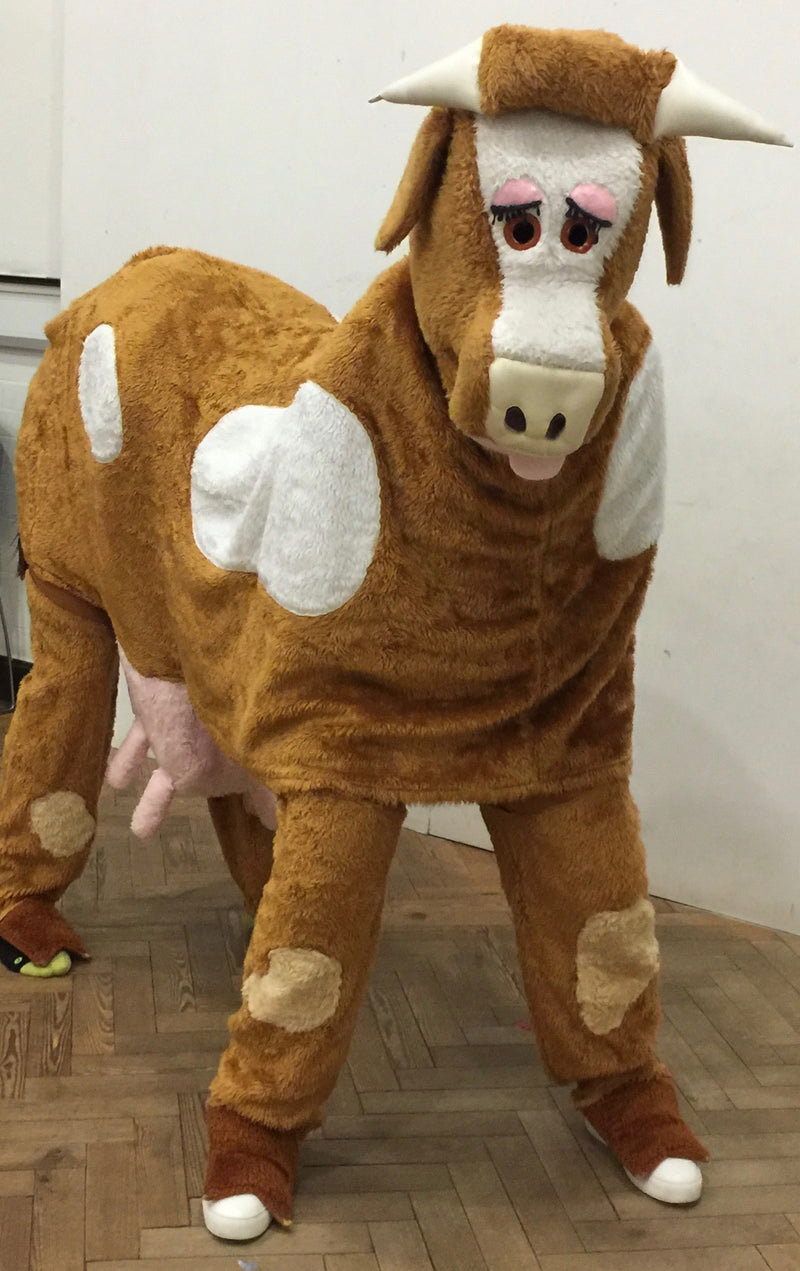 Cow Mascot for 2 people Light Brown