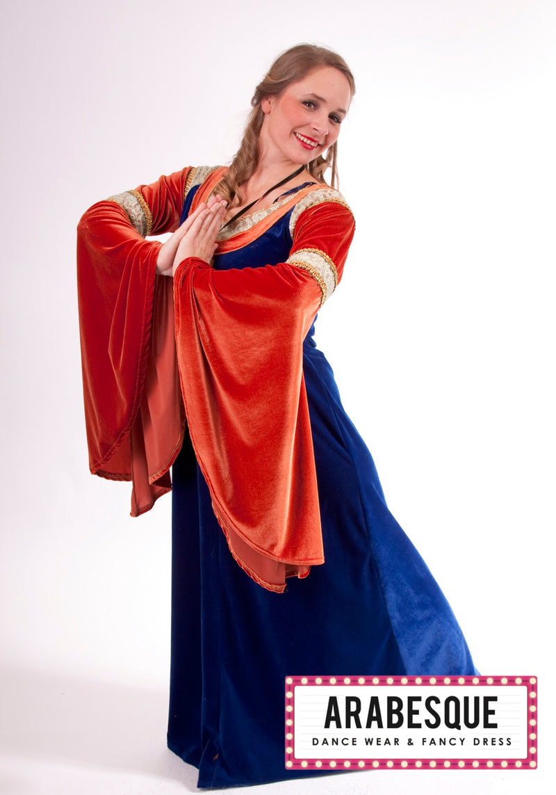 Ladies Blue Medieval Dress