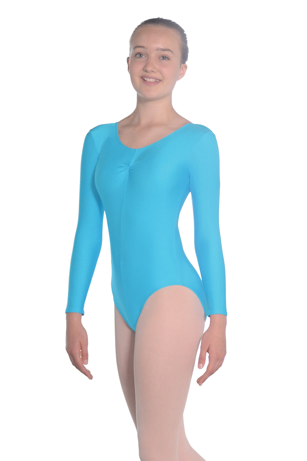 Roch Valley long sleeved leotard - kingfisher