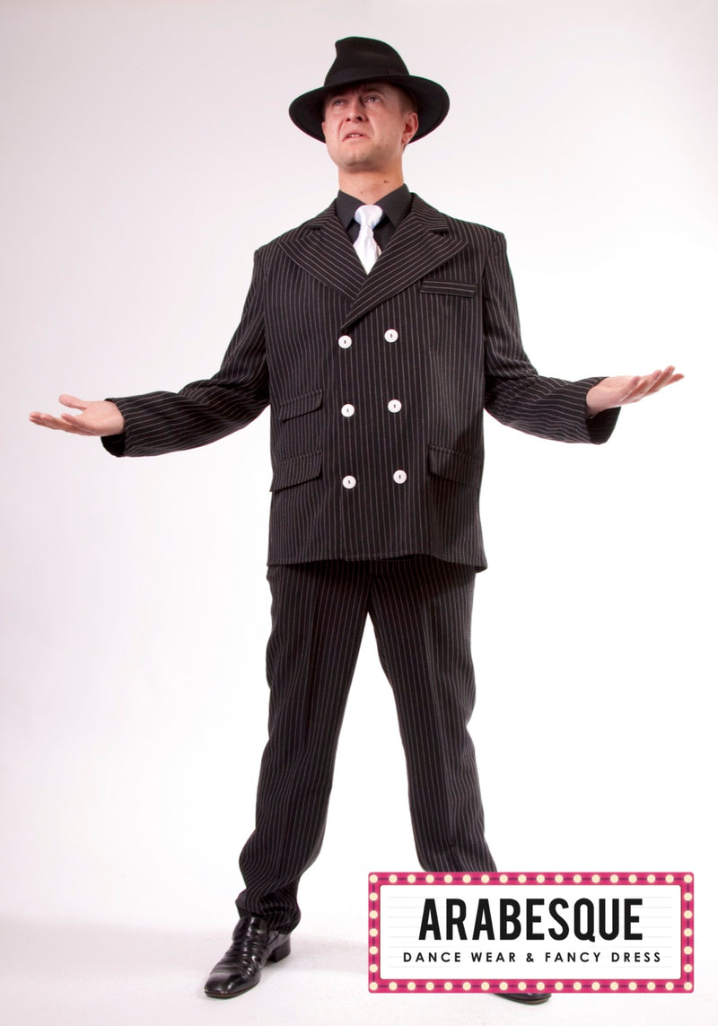 Gangster Pinstripe Suit Hire Costume