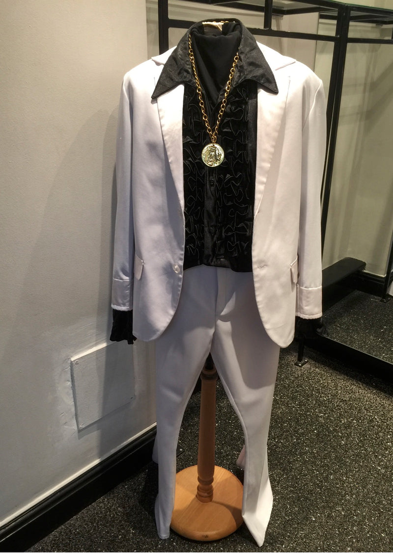 White 1970's Saturday Night Fever Suit