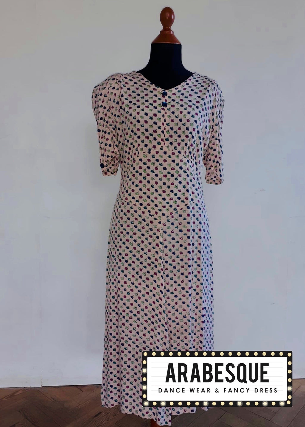 Ladies 1940's Peach Vintage Dress