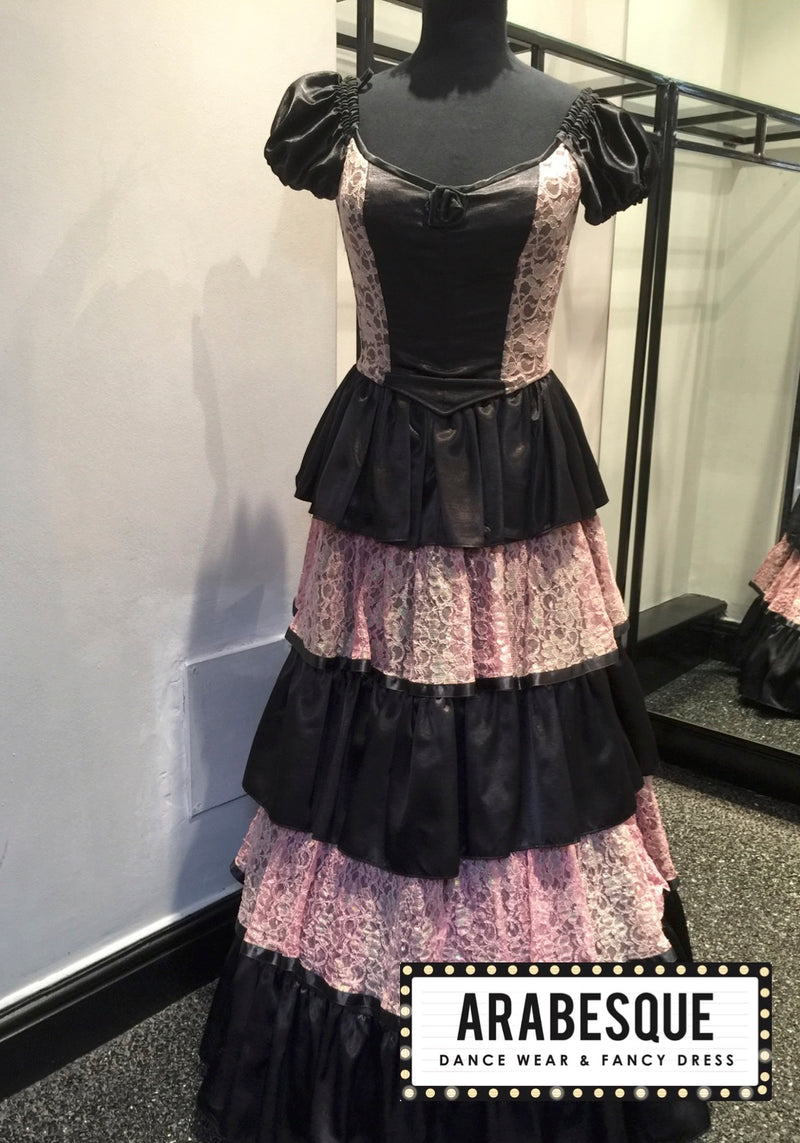 Pink and Black Vicotian Ballgown
