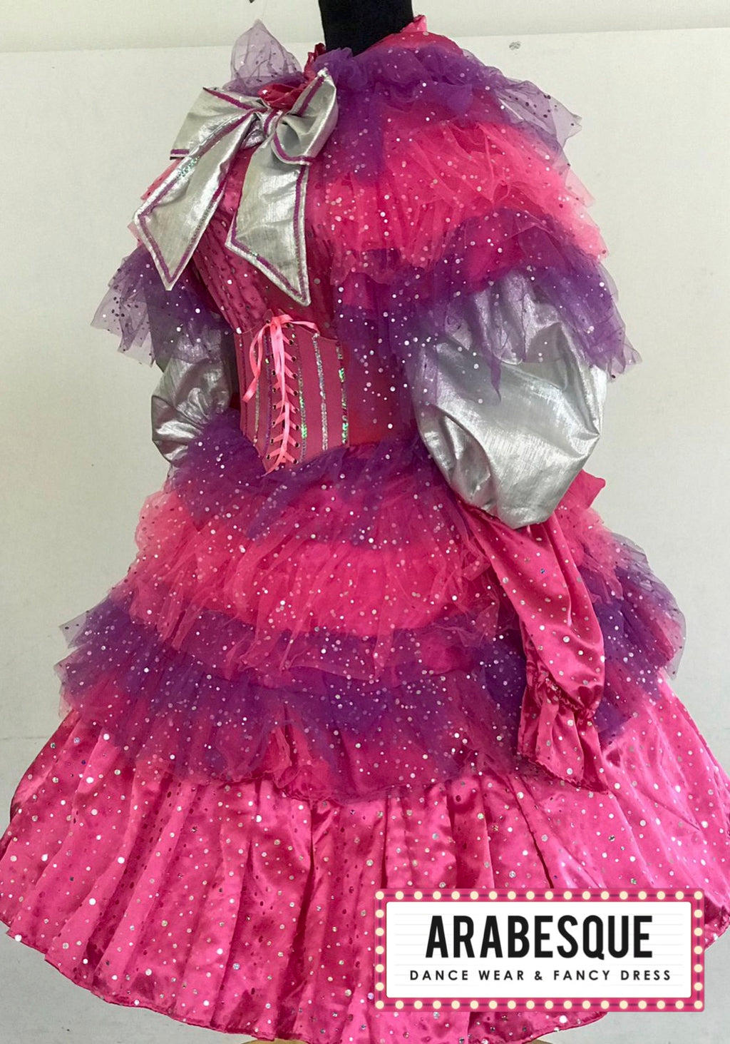 Pink & Purple Panto Dame Costume