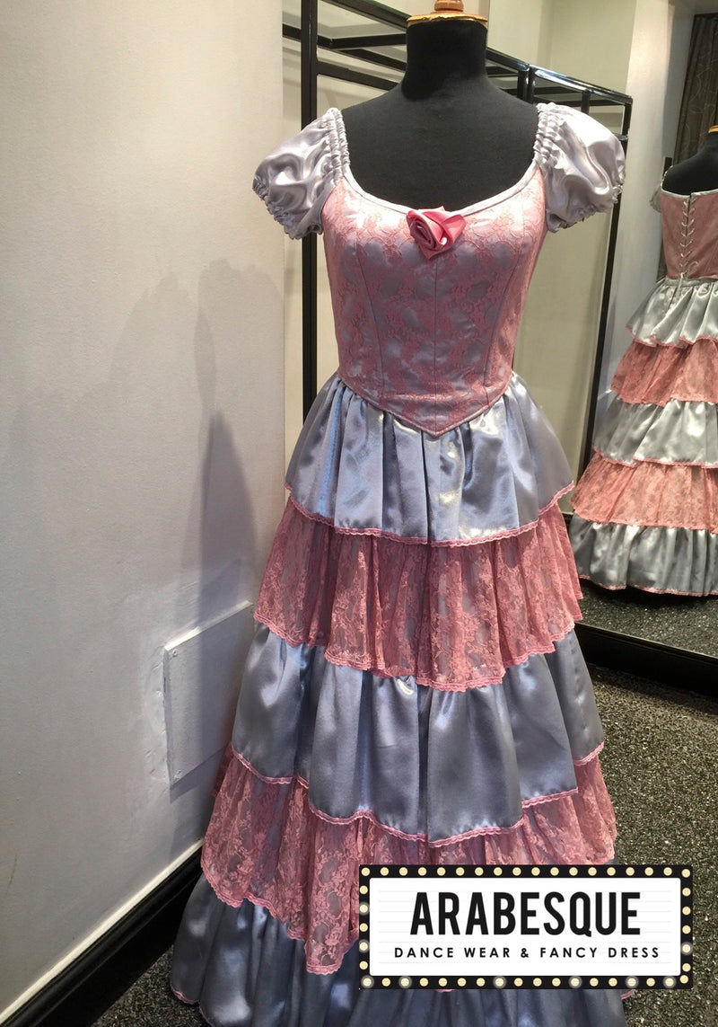 Pink and Silver Victorian Ballgown
