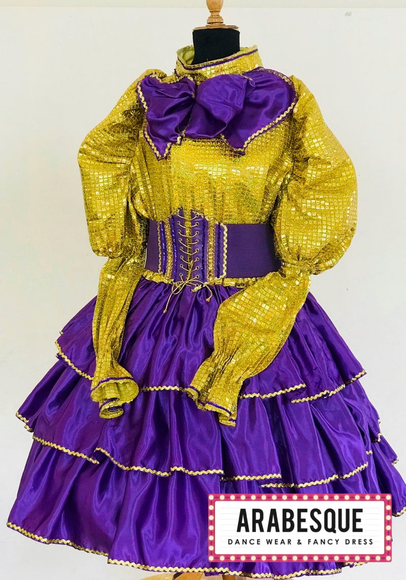Purple & Gold Dame Dress