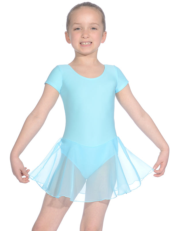 Roch Valley Leotard with attached skirt - aqua