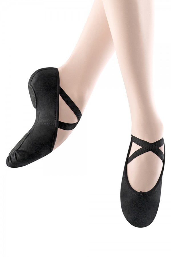 Black Canvas Split Sole Ballet Shoe Bloch
