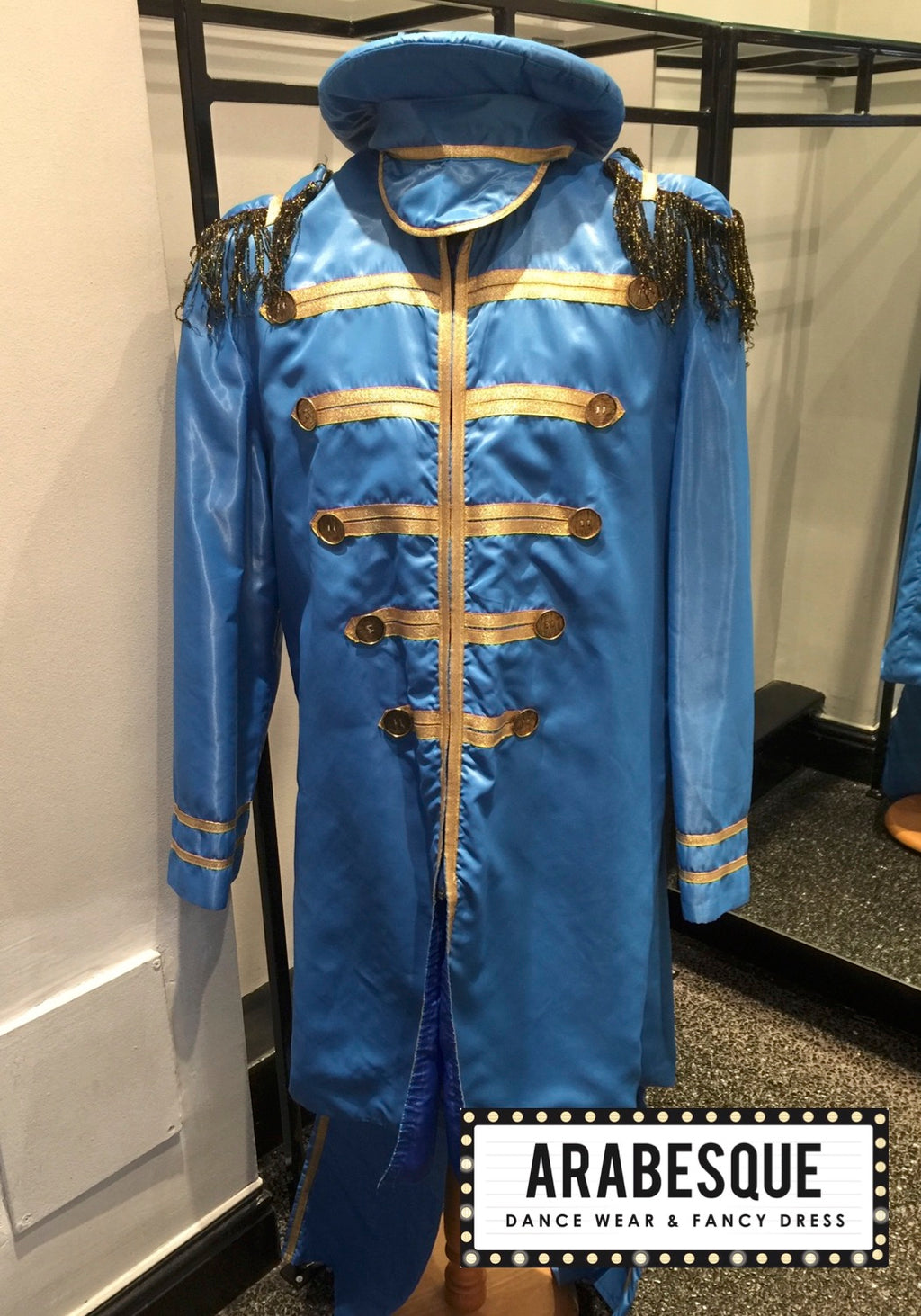 Satin Blue St Peppers Suit - Circus Style Jacket